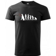 Bezvatriko.cz 0256 Pánské tričko evoluce Star Wars Černá