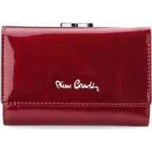 Pierre Cardin Kožená dámská peněženka portmonka na zapínání červená 3c744dd8eb1