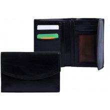 HELLIX Kožená peněženka P-703 černá,