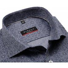 4e6e2efb446 Eterna Modern Fit – modrá košile s tištěným vzorem - prodloužený rukáv