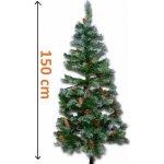 Umělý vánoční stromek se šiškami