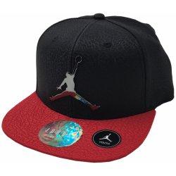 Air Jordan snapback dětská chlapecká kšiltovka černá červená Červená ... fe84e96e40a