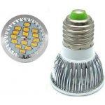 SMD Lighting LED žárovka E27 6W bílá Teplá bílá
