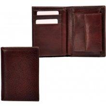 HELLIX Kožená pánská peněženka P-1206 hnědá