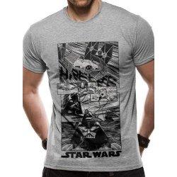 a9e769d21b7 CurePink Pánské tričko Star Wars  New Hope Manga šedé alternativy ...