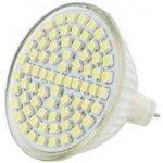 Whitenergy Led žárovka GU5.3 72 SMD3528 3.5W 230V Studená bílá refl. MR16