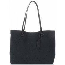 David Jones univerzální dámská kabelka s kosmetikou ažurová černá d3259a29ec