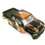 12687 Karoserie Truck černo-oranžová EVO 4M