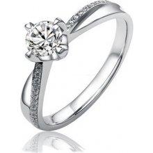 Stříbrný originální prsten se Swarovski Zirconia 5mm - SHZR302