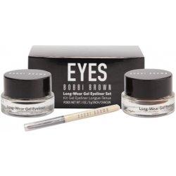 Oko Bobbi Brown Eyes gelové oční linky Black Ink + Sepia Ink Long-Wear Gel Eyeliner Set 2x3 g