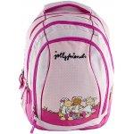 Školní batoh 2v1 Nici růžový tři ovečky