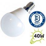 TIPA Žárovka LED G45 E14 5W bílá teplá Pc