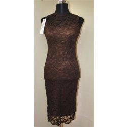 5f9a651fb7a Mayaadi dámské elegantní krajkové šaty Deluxe hnědá od 790 Kč ...