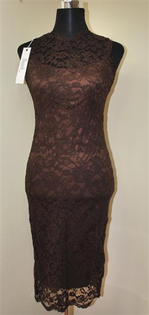 787aae44ef6 Mayaadi dámské elegantní krajkové šaty Deluxe hnědá od 790 Kč - Heureka.cz