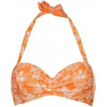 SoulCal Halter Neck Bikini Top Ladies Coral Floral