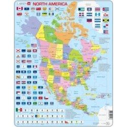 Larsen Vyukove Severni Amerika Politicka Mapa Anglicky 85 Dilku Od