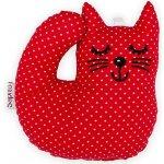 Šapitó Kotě červené puntík chrastítko