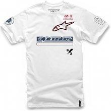 Alpinestars Pánské bílé tričko AXIOM TEE krátké 1017-72019 20