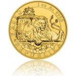 Česká mincovna Zlatá uncová investiční mince Český lev 2018 reverse proof 31,1 g