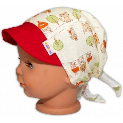 Baby Nellys Šátek na zavazování s kšiltem Maják