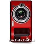 Pouzdro HEAD CASE HTC windows phone 8S fotoaparát červená