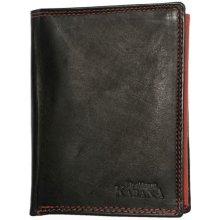 Pánská celá kožená černo červená peněženka Kabana