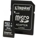Kingston microSDHC 4GB Class 4 + adaptér SDC4/4GB