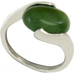 928bd822b Prsten polodrahokam - avanturín zelený polodrahokam obecný kov polodrahokam  přírodní materiály s kamínkem PR0090-035610
