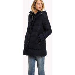 bd397ef6392 Dámská bunda a kabát Tommy Hilfiger dámský péřový kabát tm.modrá