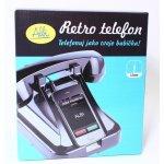 Pouzdro Albi Černý retro telefon na mobil