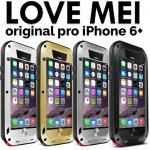 Pouzdro LOVE MEI POWERFULL STRONG iPhone 6 plus stříbrné