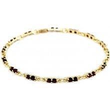 Náramek zlatý granátový Au585 196