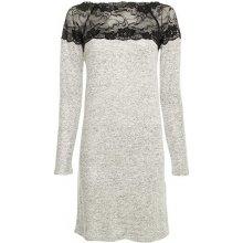 b7f63aee7a6bb Vero Moda dámské šaty Cima Lace Ls Dress W.black lace light grey melange