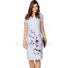 eb491c096cfa Color collection zeštíhlující dámské pouzdrové šaty