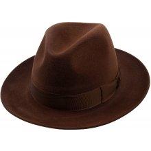 7c7e07f3d Luxusní plstěný klobouk hnědá Q6058 11580/13BG