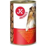 JK Animals masová konzerva pro psy s hovězím masem a zeleninou 1230 g