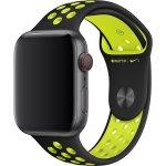 Apple Watch 44mm Černý Volt Nike Sportovní Řemínek Černá Nike Volt zelená 2b62ea3b3f0