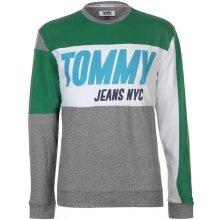 Tommy Hilfiger Pánská mikina Tommy Jeans Big T Šedá 22a68e0cb82