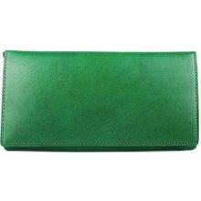 ITALSKÉ Zelená kožená peněženka z Itálie levná R005 verde