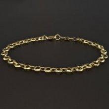 Náramek Goldpoint zlatý lesklý s většími oky 1.11.NR004033.19