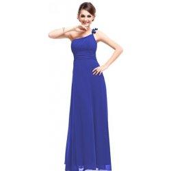 e7e097e53aa Modré dlouhé společenské plesové svatební šaty na jedno rameno ...