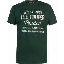 Lee Cooper Large Logo Vintage T Shirt Mens Vintage Green