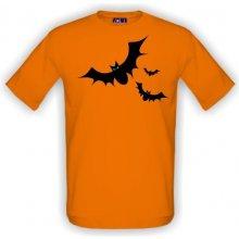 86ae0a6df37 T-shock tričko s potiskem Netopýři pánské Oranžová