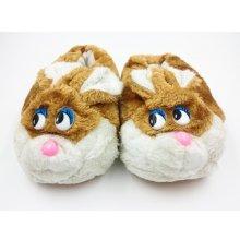 Dětské papuče světle hnědý králíček