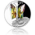 Česká mincovna Stříbrná mince CRYSTAL COIN Pro štěstí proof 42 g