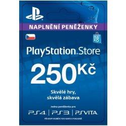 Sony PlayStation Store předplacená karta 250 CZK