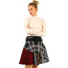 7f2c8abfb6cf TopMode zimní áčková sukně se vzory