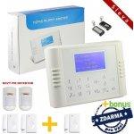 Bezdrátový LCD GSM alarm systém STANDARD