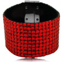 Shine bižuterní třpytivý barevný náramek červený TN018