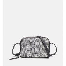 Calvin Klein kabelka SNAKE PRINT SMALL LEATHER CROSSOVER černo-bílá 2754fc4bb03